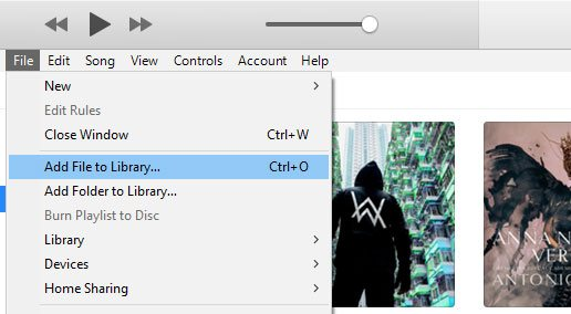 Add songs to iTunes Library