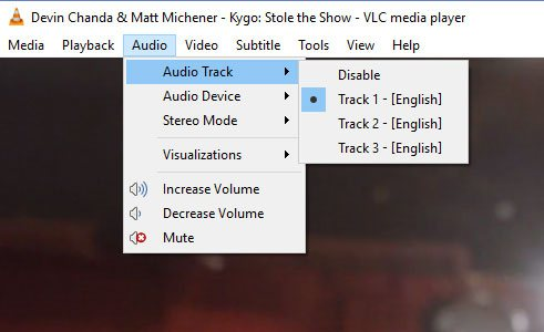 Choose Audio Track and Subtitle in VLC Media Player