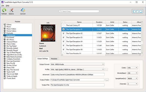 Convert audiobook to M4A foramt