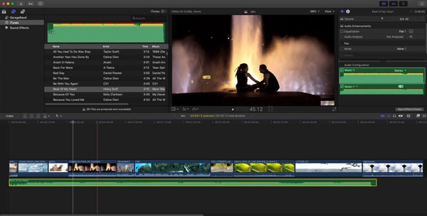 Added Background Music in Final Cut Pro X