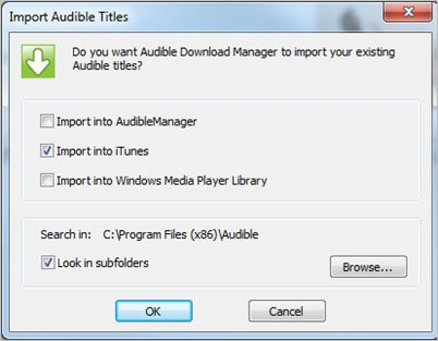 Import Audible Audiobooks to iTunes