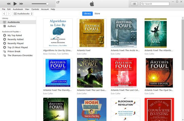 iTunes Audiobook Library