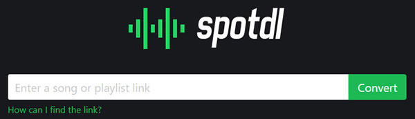 Spotdl Interface