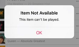 Fix Apple Music 'Item Not Available' Problem