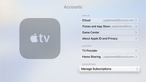 Manage Apple TV Subscriptions