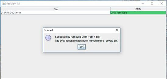 Free DRM removal software - Requiem