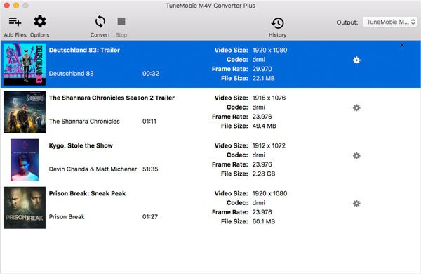 Convert iTunes M4V to MP4