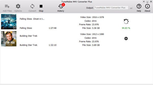 Converting iTunes M4V movies