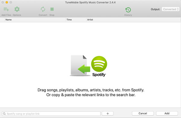 Add songs to TuneMobie Spotify Music Converter for Mac