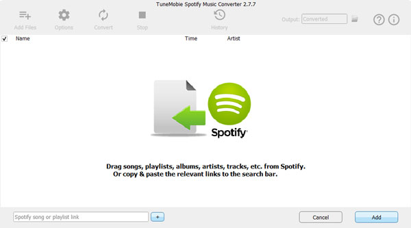 Add songs to TuneMobie Spotify Music Converter