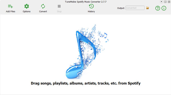 Spotify Music Converer Interface