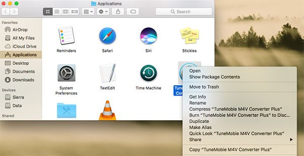 Uninstall TuneMobie Mac Software